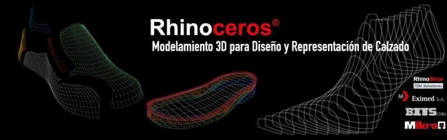 Diseño y escalado de Calzado RHINO. Contactarse.