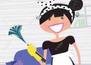 Servicio domestico, limpieza y cocina.