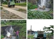 servicio de limpieza y perforación de pozos profundo.