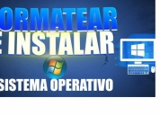 curso para aprender a formatear y instalar windows, contactarse.