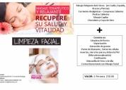 Limpieza facial profunda más masaje terapéutico anti stress