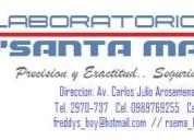 Servicio de laboratorio clinico a domicilio,contactarse.