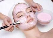 Tratamientos faciales de belleza limpieza profunda