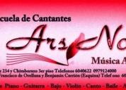 Excelente cursos de canto clásico y contemporáneo arsnova