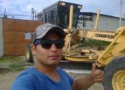Busco trabajo urgente como operador de maquinaria pesada. contactarse.