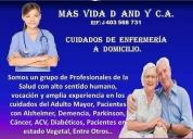 Enfermero profesional a domicilio. contactarse.