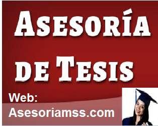 ASESORÍA DE PROYECTOS DE TESIS.