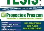 Oportunidad! capacitación profesional en tesis