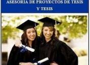 Asesorìa de tesis y proyectos acadèmicos, monografìas..