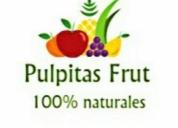 Pulpas de frutas totalmente naturales con azucar incluida .