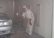 Pintor automotriz y soldador a eléctrica