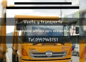 venta y transporte de materiales pétreos.