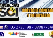 Asesoria contable y tributaria. contactarse.