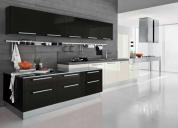 Muebles de cocina, closets, puertas de madera.