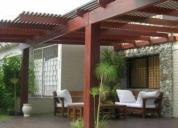 Pergolas, cubiertas con policarbonato, techos.