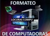 Formateo de computadoras, contactarse.