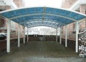 Oportunidad! policarbonato con estructura metalica desde 45 m2