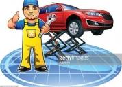 Mecanico con clientes