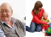 Cuidado de niños y/o adultos mayores a domicilio. contactarse.