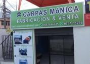 Fabricación de carpas monica