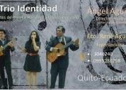 """serenatas musicales con el """"trio identidad"""" contactarse."""