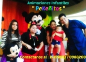 Animaciones pekeñitos baby shower, proyeccion.