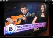 Trio musical mixto, amÉrica internacional.