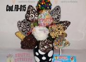 Frutti detalles arreglos frutales guayaquil amor frutillas chocolate.