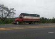 Dispongo camion para trasporte de cajas de banano y carton, contactarse.