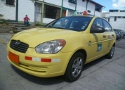 Vendo excelente taxi accent con puesto legal de oportunidad