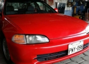 Vendo flamante honda civic año 93