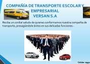 Servicio de transporte empresarial y escolar