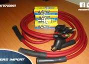 Combo de alto rendimiento chevrolet san remo - chevette cables de bujias + bujias accel