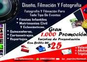 Filmaciones de eventos y tarjetas de presentación