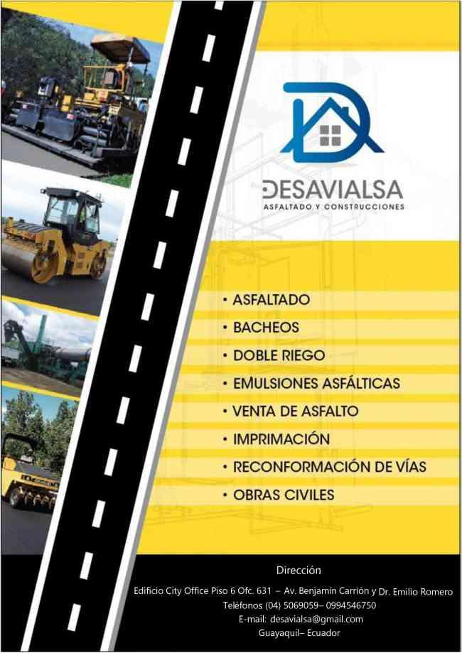 VENTA DE ASFALTO Y TENDIDO DE CARPETA EN VIAS ,CARRETERAS ETC.