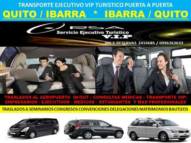 SERVICIO VIP QUITO IBARRA QUITO IBARRA