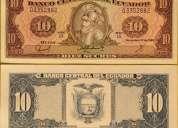 billetes de 10 sucres sin circular