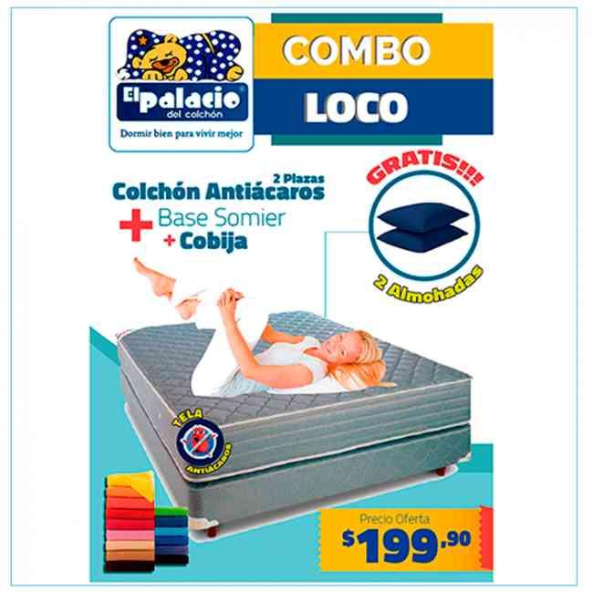 !!! Promoción !!! Colchones Antiacaros 2 Plz !!! Mas Regalos !!! Watshapp 0983080519 !!!
