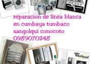 Servicio tecnico 0999240143 lavadoras calefones secadoras refrigeradoras cumbaya condado sangolqui�