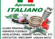 Clases de italiano personalizadas o grupales