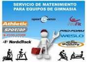 Caminadoras. ejercitadores. equipos de gym. reparaciÓn y mantenimiento