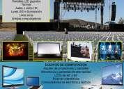 Alquiler de proyectores de imagenes, pantallas led, computadoras portatiles y tablets