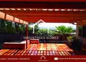 Industrias gomez-pérgolas de madera-cubiertas de madera-cubiertas metalicas-quito-ecuador-guayaquil