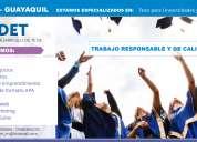 Guayaquil: desarrollo, asesoría de tesis para universidades y proyectos para colegios