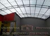 Cubiertas estructurales  techos pergolas en policarbonato