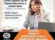 Curso: experto en cajeros bancarios y comerciales. empleo seguro!