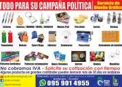 Articulos para campaÑa politica