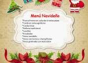 Buffet menu navideÑo economico tl. 2575474