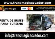 Renta de buses para turismo quito - ecuador.