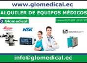 Alquiler de equipos médicos.